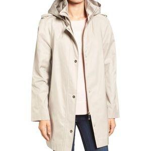 Ivanka Trump Hooded Stand-Collar Rain Coat M